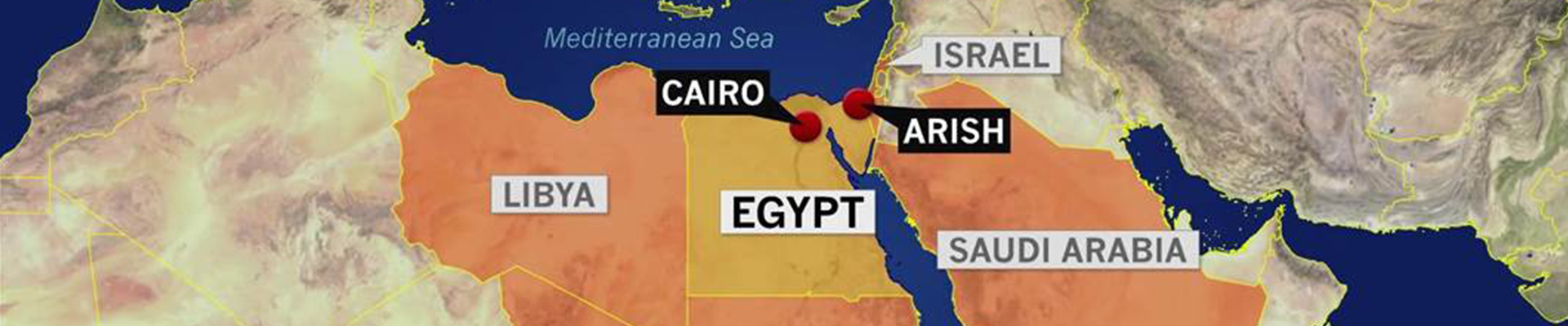 Egypt mosque attack leaves at least 235 dead in Sinai Peninsula